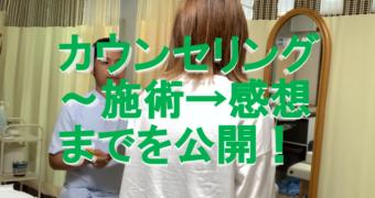 カウンセリング~施術→感想までを公開!