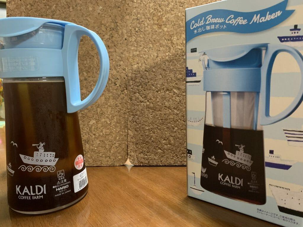 カルディ水出しコーヒーを冷蔵庫へ