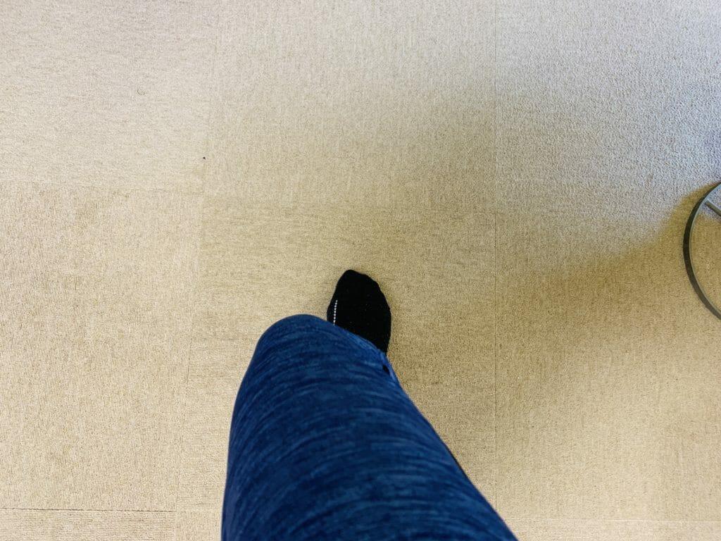 膝がねじれている場合の膝の曲がり方